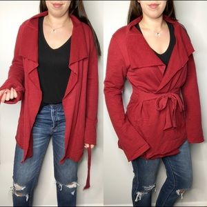 Lucky Brand // Red Wrap Cardigan